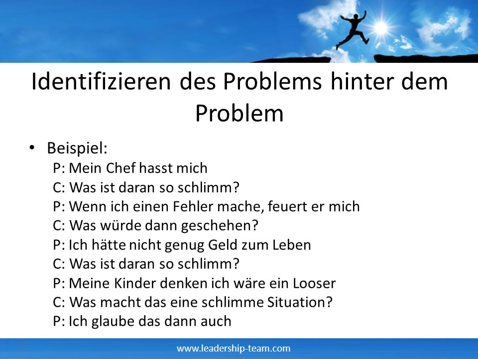 Identifizieren des Problems hinter dem Problem