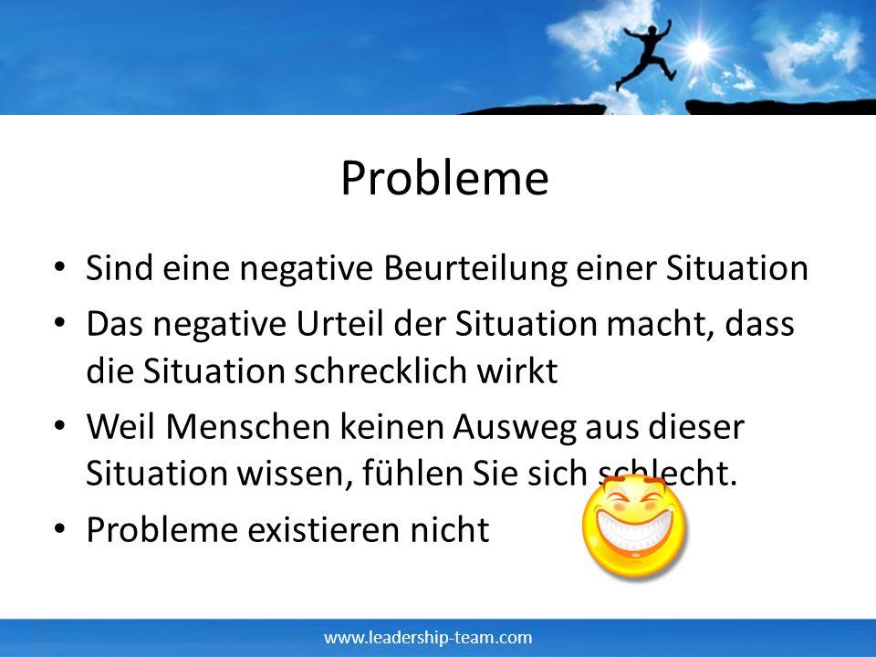 Probleme Sind eine negative Beurteilung einer Situation