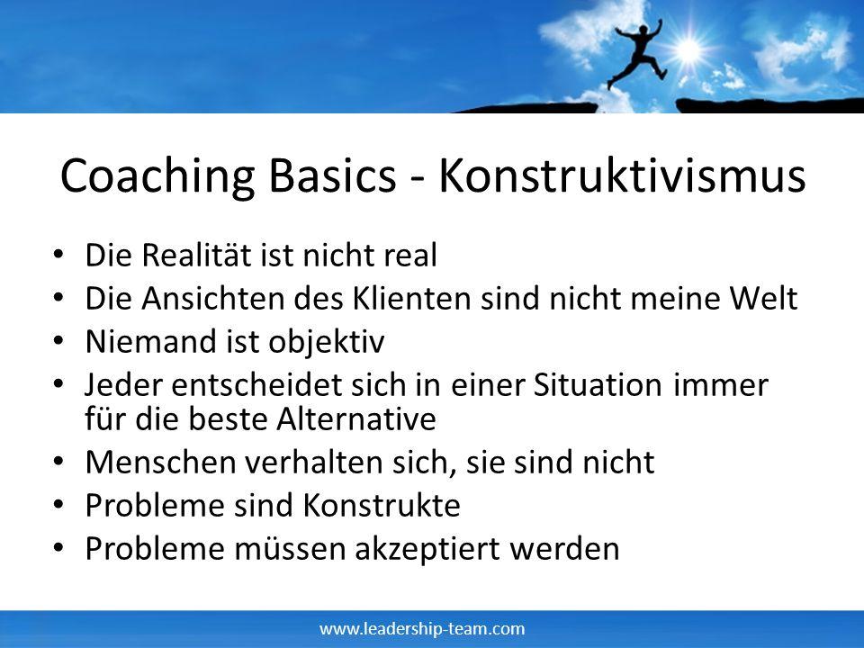 Coaching Basics - Konstruktivismus