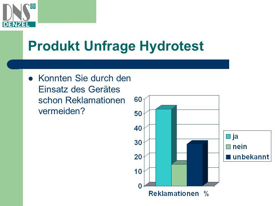 Produkt Unfrage Hydrotest