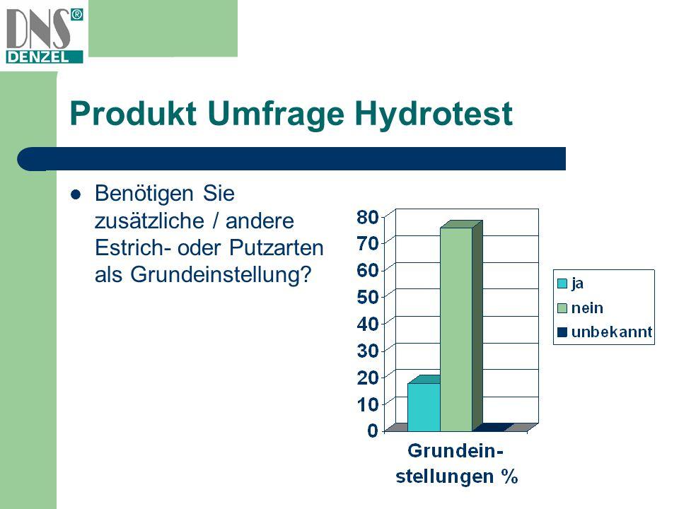 Produkt Umfrage Hydrotest