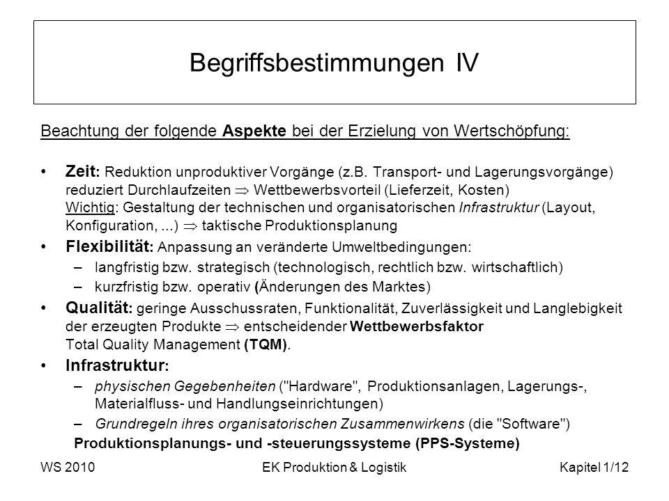 Begriffsbestimmungen IV