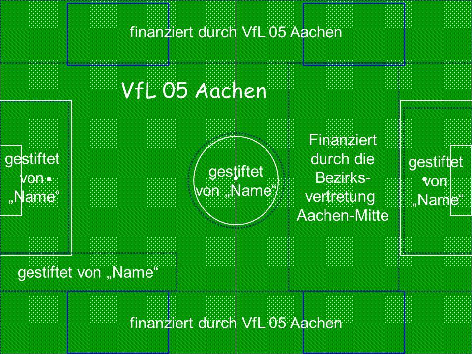 VfL 05 Aachen finanziert durch VfL 05 Aachen Finanziert durch die