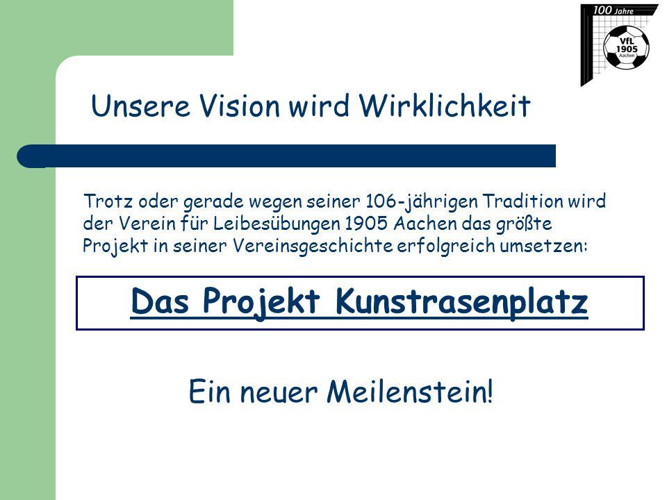 Das Projekt Kunstrasenplatz