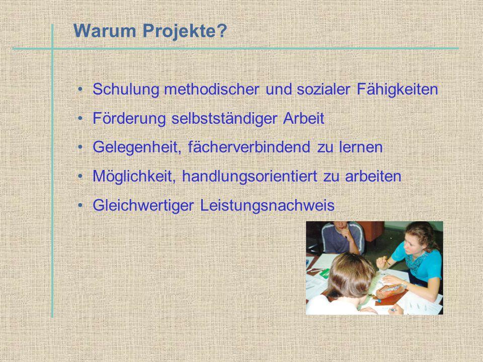 Warum Projekte Schulung methodischer und sozialer Fähigkeiten