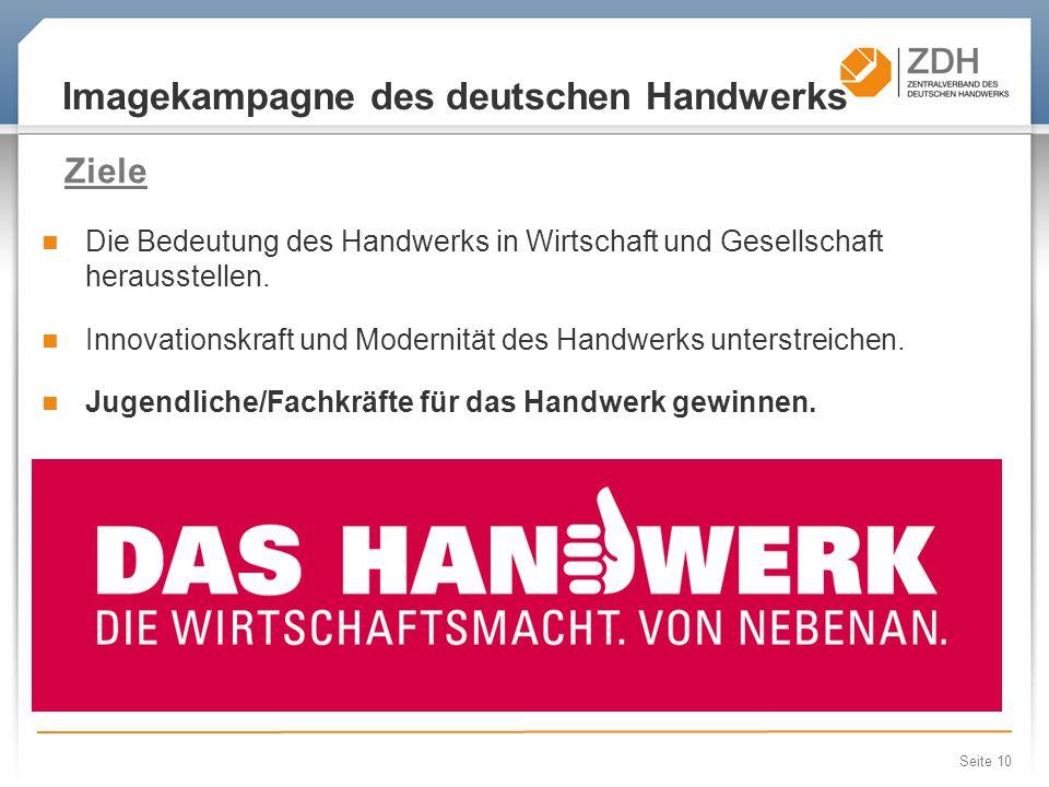 Imagekampagne des deutschen Handwerks