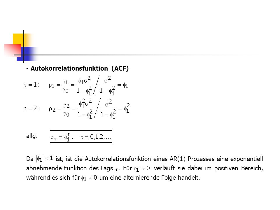 Autokorrelationsfunktion (ACF)