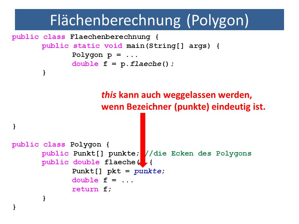 Flächenberechnung (Polygon)