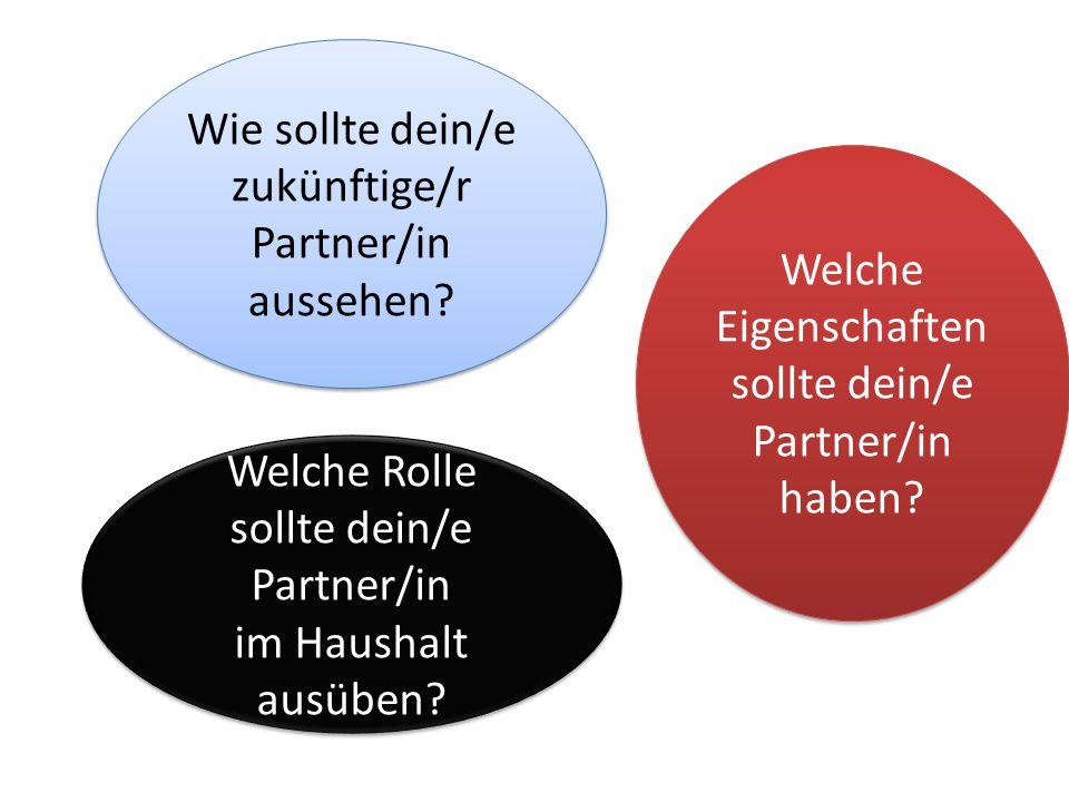 Wie sollte dein/e zukünftige/r Partner/in aussehen