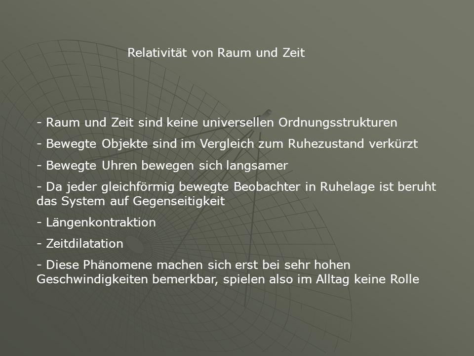 Relativität von Raum und Zeit