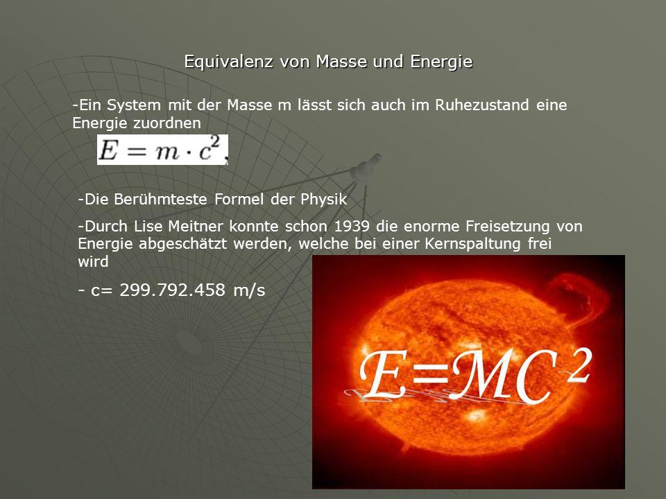 Equivalenz von Masse und Energie