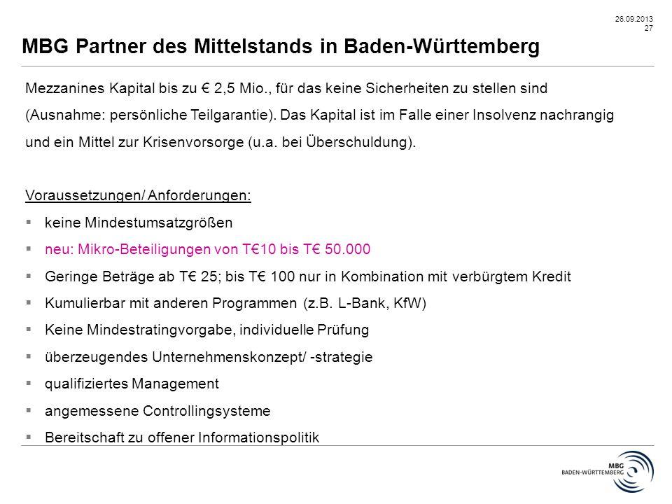 MBG Partner des Mittelstands in Baden-Württemberg