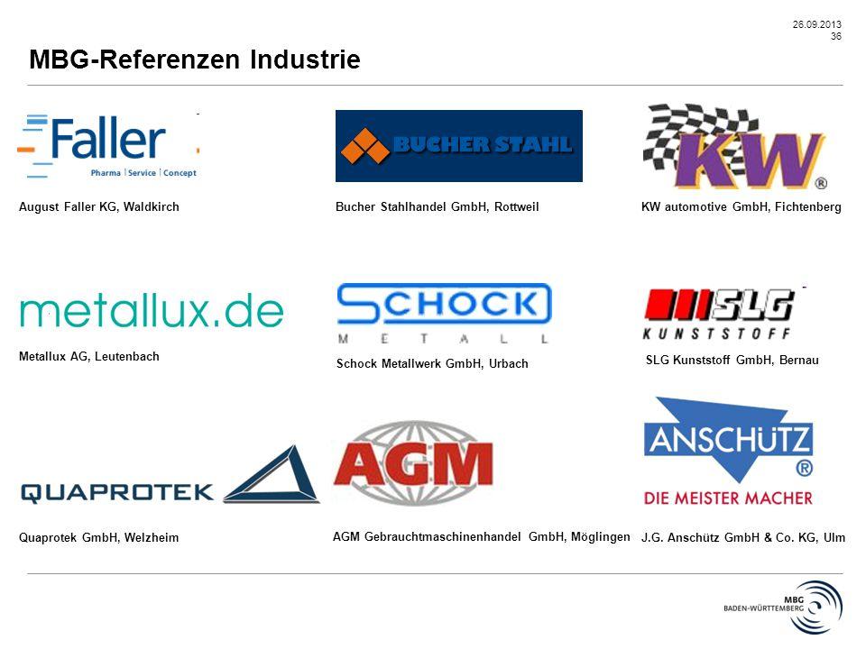 MBG-Referenzen Industrie
