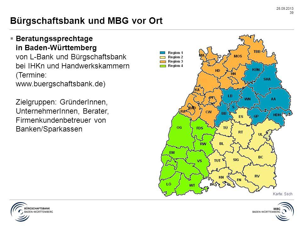 Bürgschaftsbank und MBG vor Ort