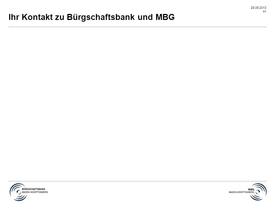 Ihr Kontakt zu Bürgschaftsbank und MBG