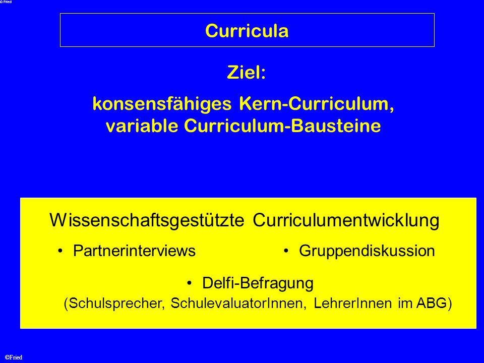 konsensfähiges Kern-Curriculum, variable Curriculum-Bausteine