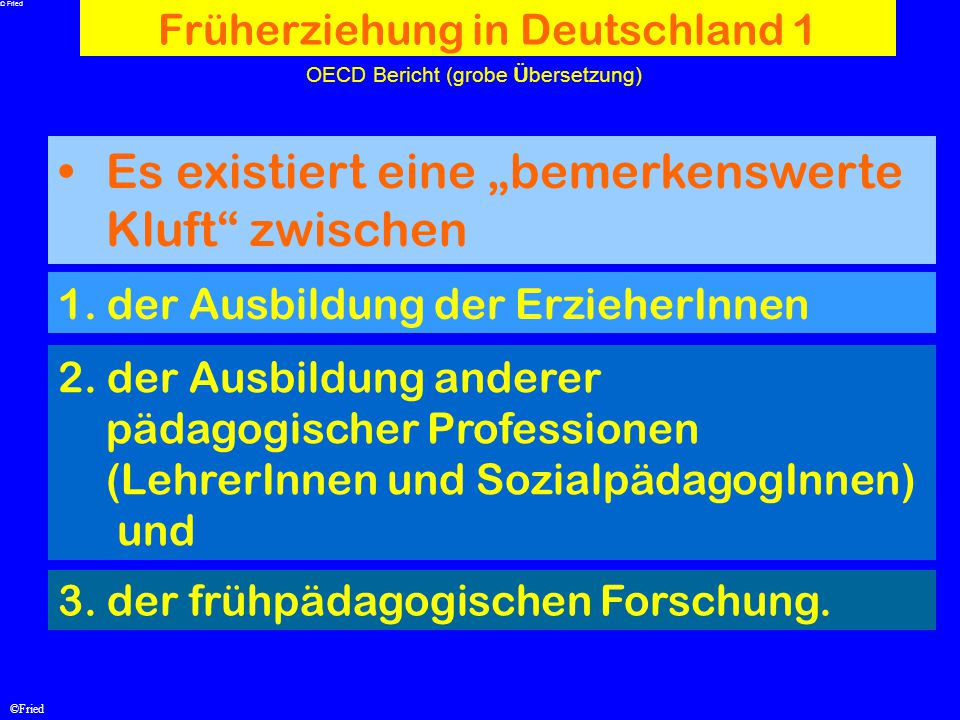 Früherziehung in Deutschland 1