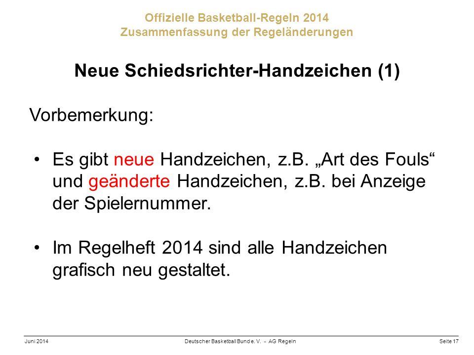 Neue Schiedsrichter-Handzeichen (1)
