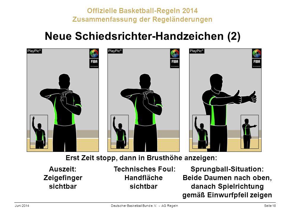 Neue Schiedsrichter-Handzeichen (2)