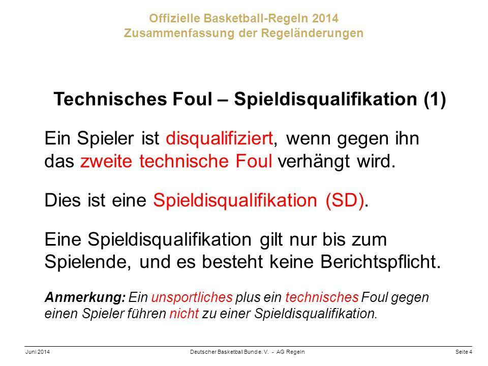 Technisches Foul – Spieldisqualifikation (1)