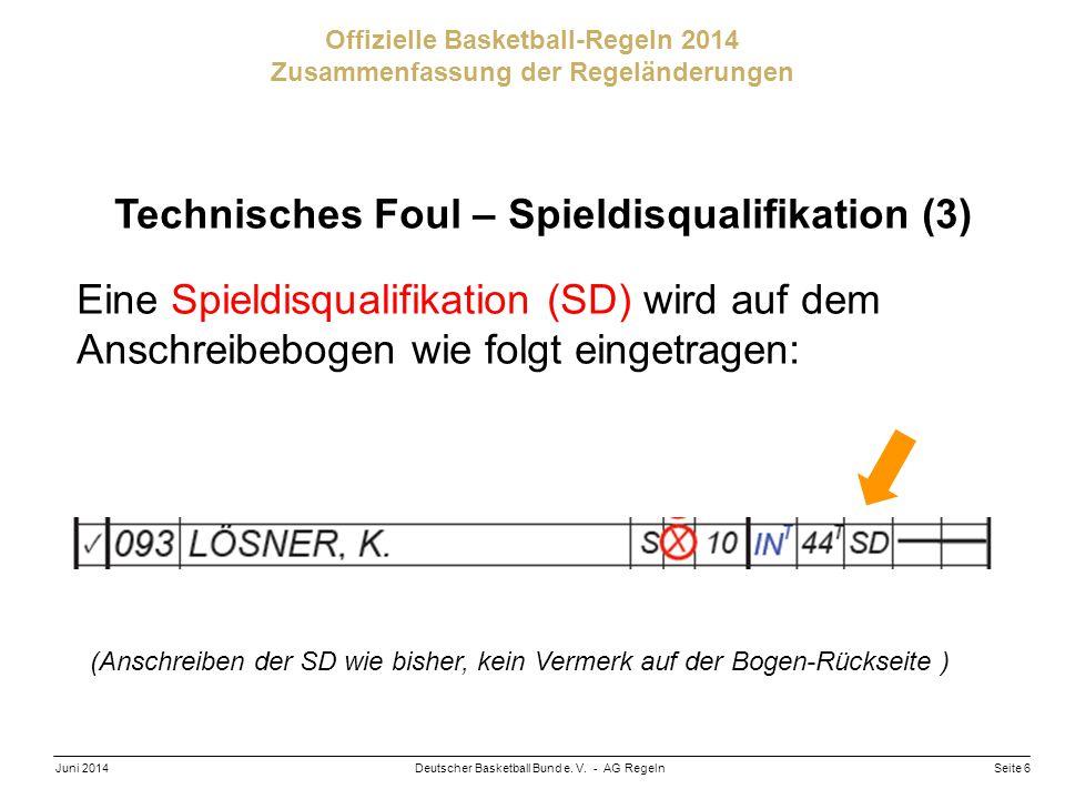 Technisches Foul – Spieldisqualifikation (3)