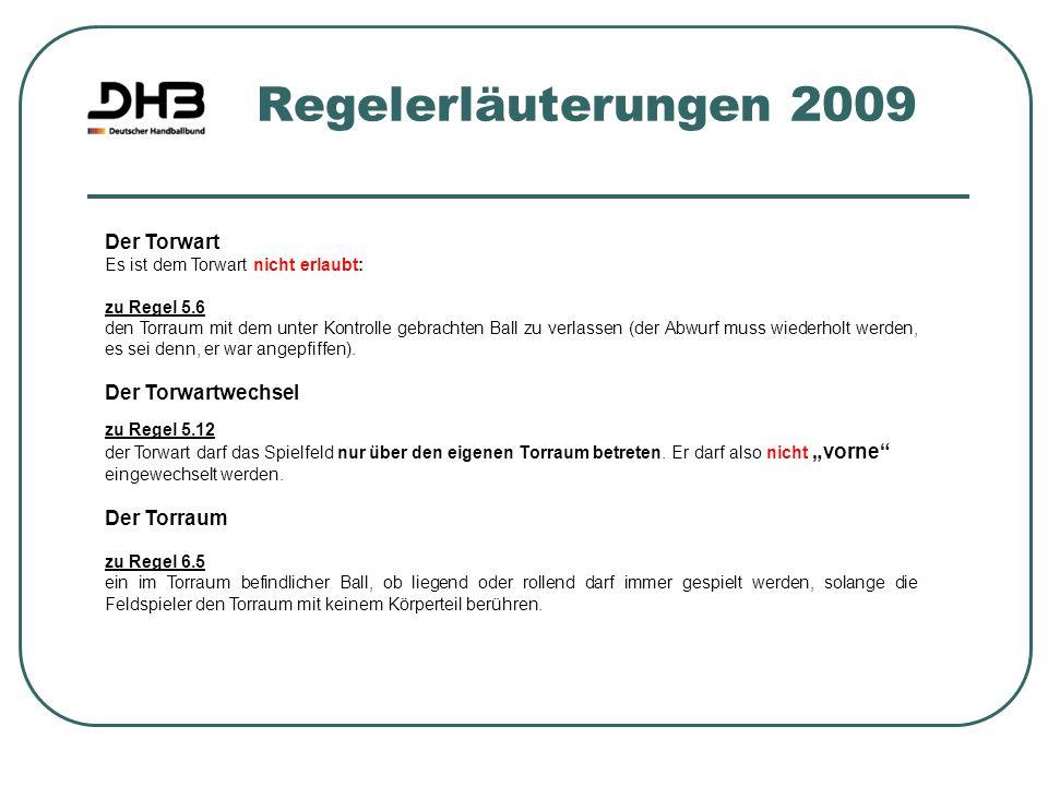 Regelerläuterungen 2009 Der Torwart Der Torwartwechsel Der Torraum