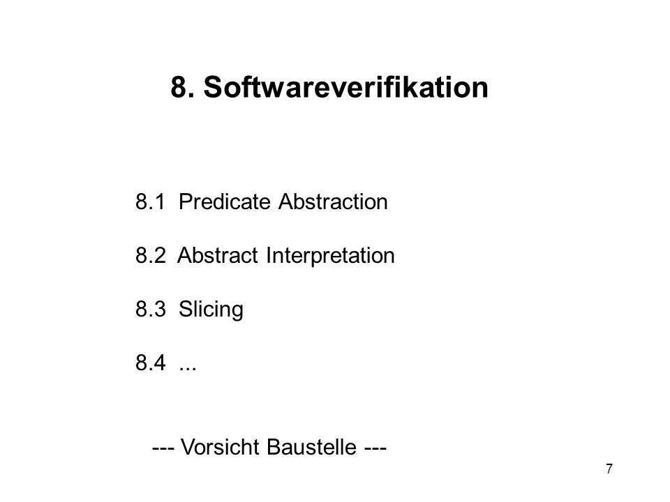 8. Softwareverifikation