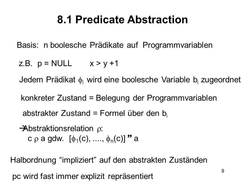 8.1 Predicate Abstraction