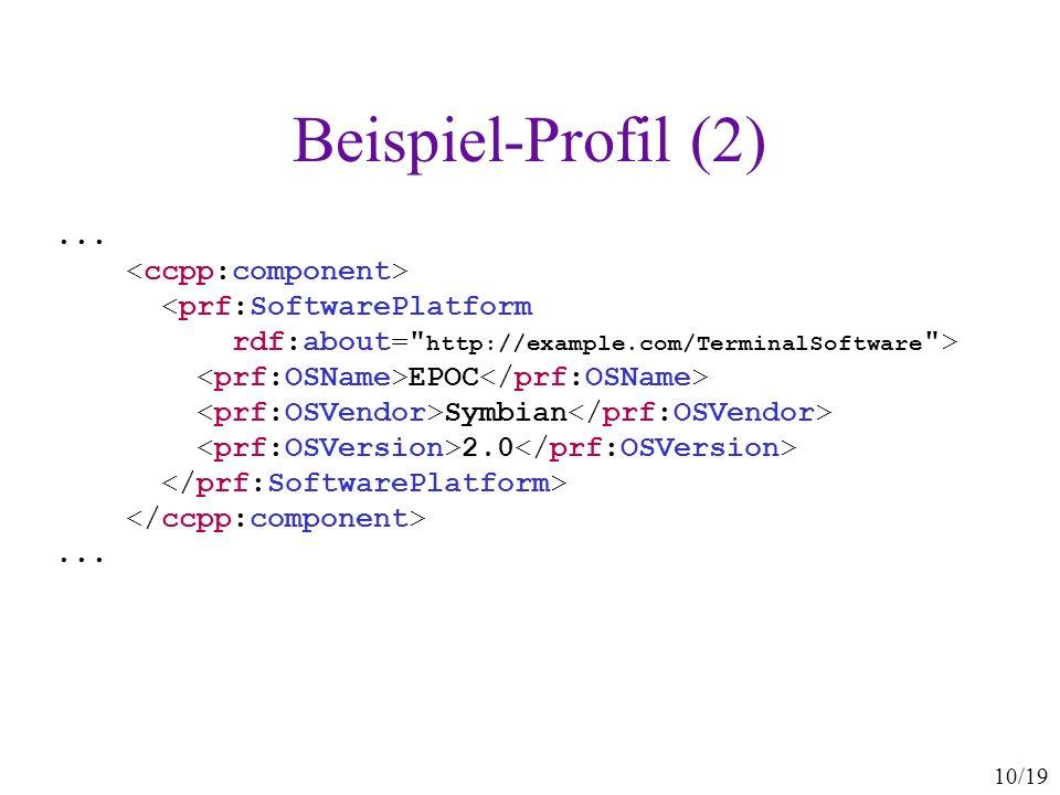Beispiel-Profil (2) ... <ccpp:component>
