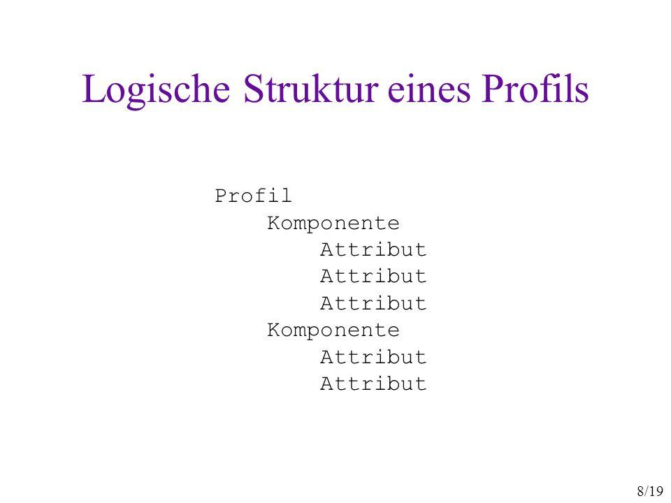 Logische Struktur eines Profils