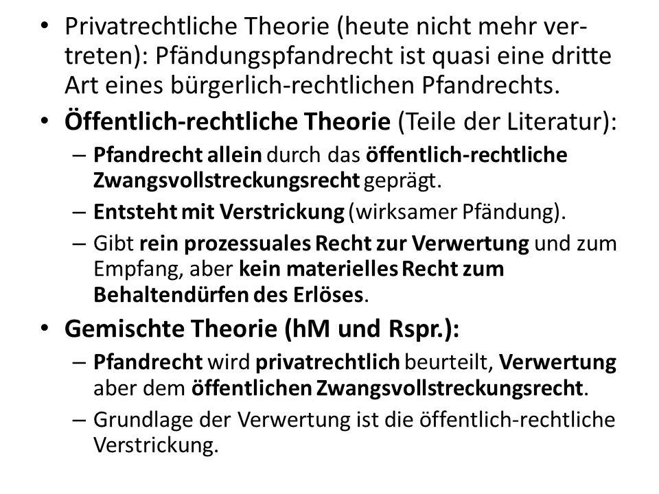 Öffentlich-rechtliche Theorie (Teile der Literatur):