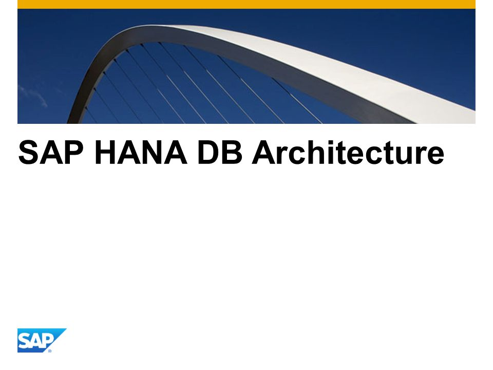 SAP HANA DB Architecture