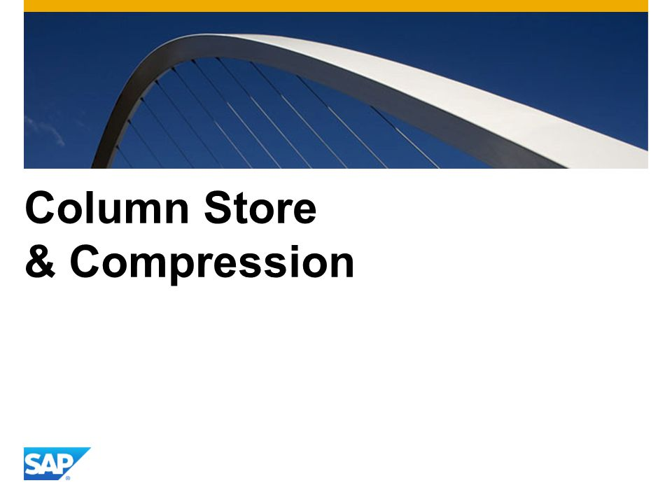 Column Store & Compression