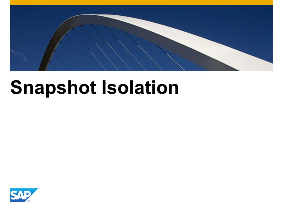 Snapshot Isolation