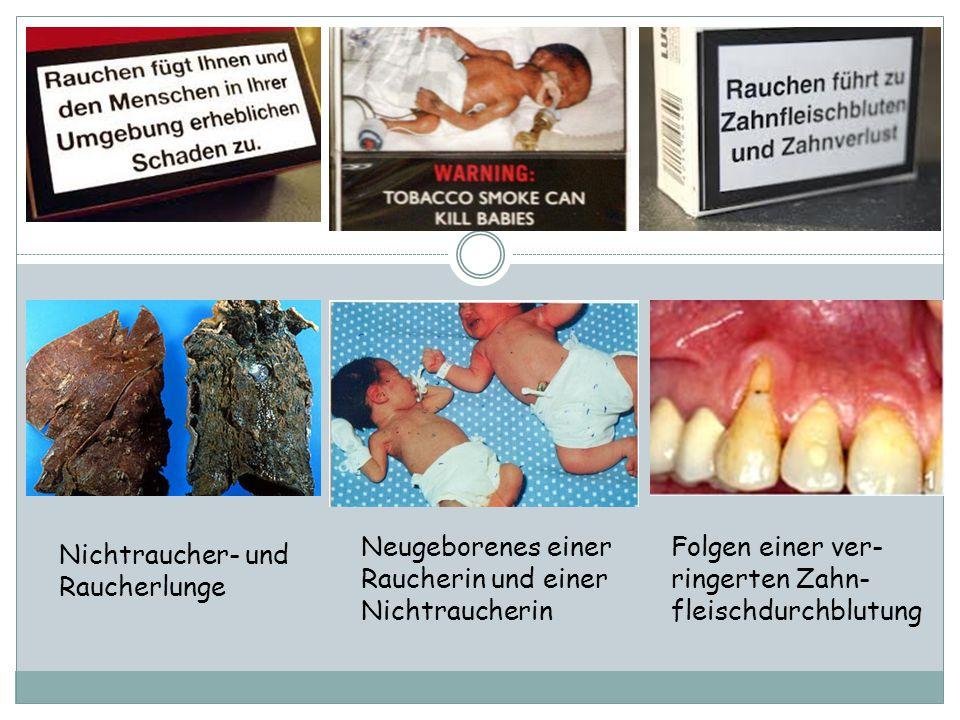 Neugeborenes einer Raucherin und einer Nichtraucherin