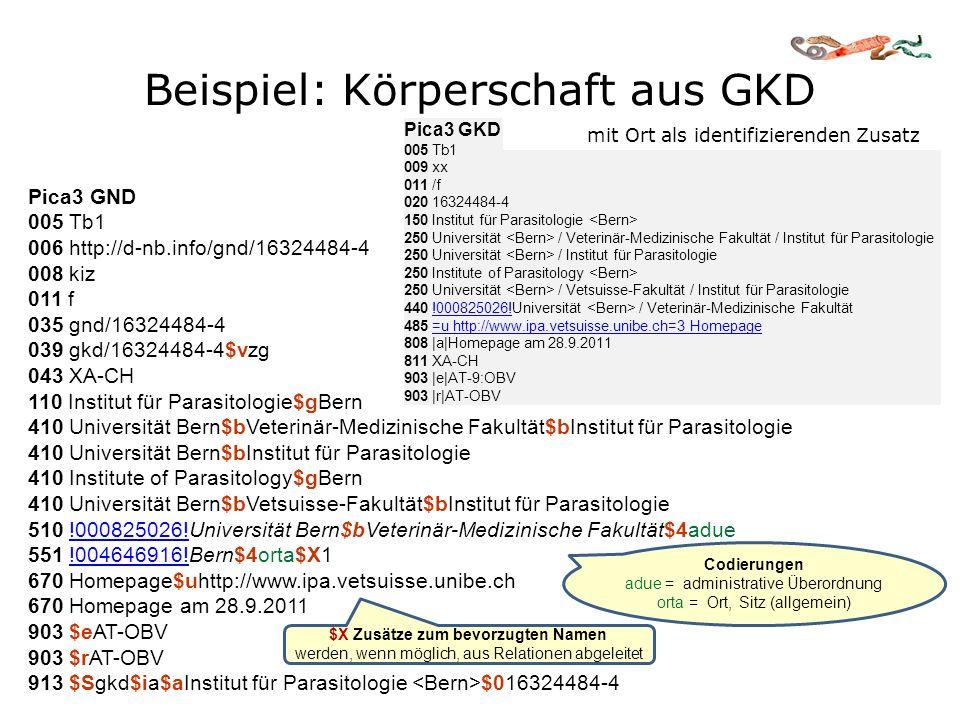 Beispiel: Körperschaft aus GKD