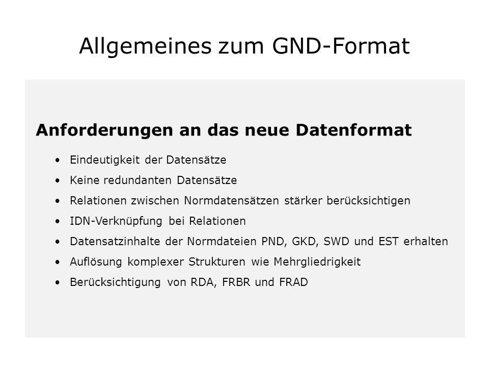 Allgemeines zum GND-Format