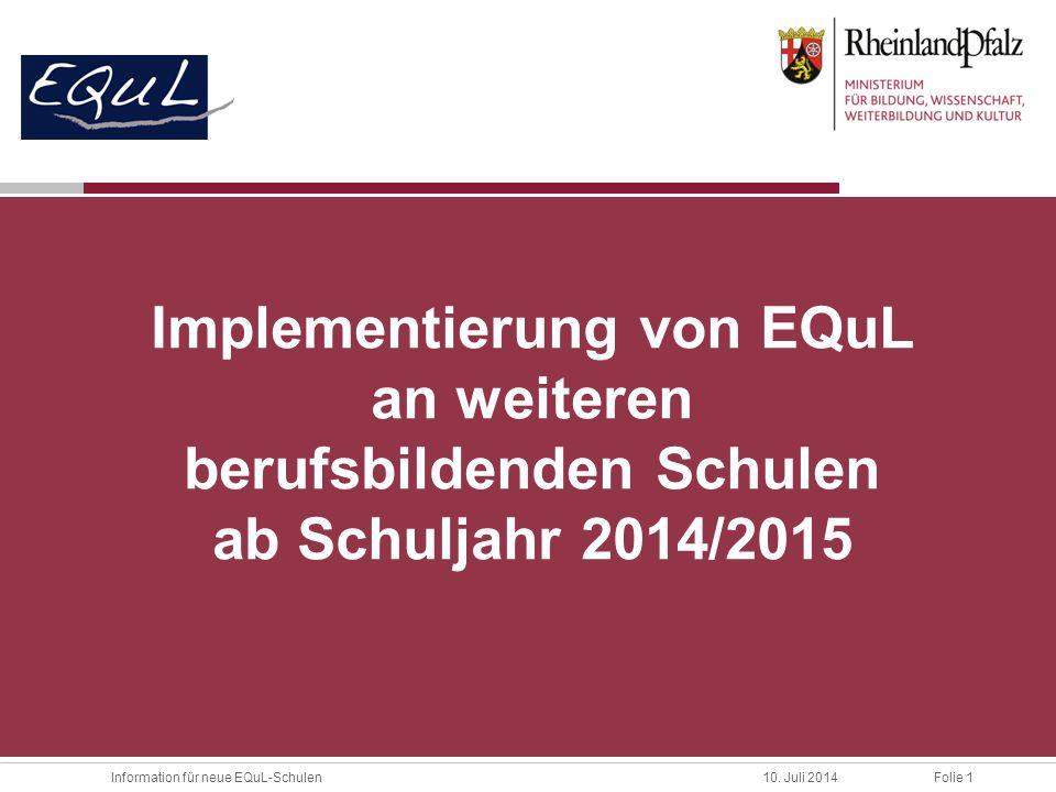 Implementierung von EQuL