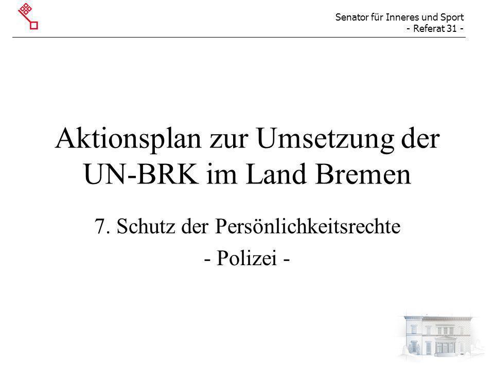 Aktionsplan zur Umsetzung der UN-BRK im Land Bremen