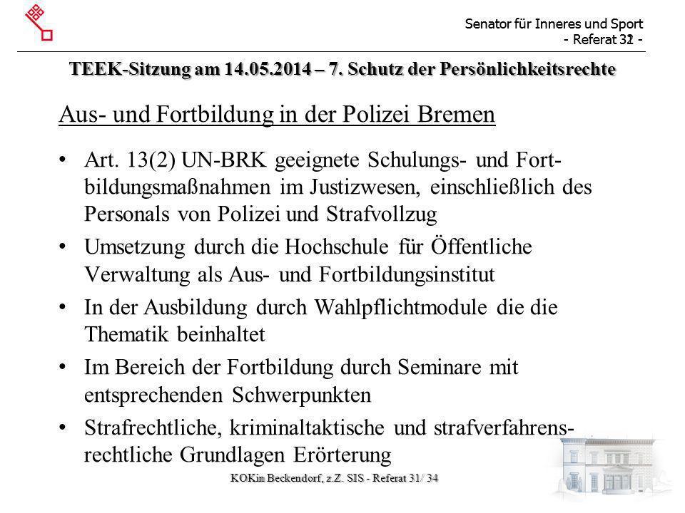 TEEK-Sitzung am 14.05.2014 – 7. Schutz der Persönlichkeitsrechte