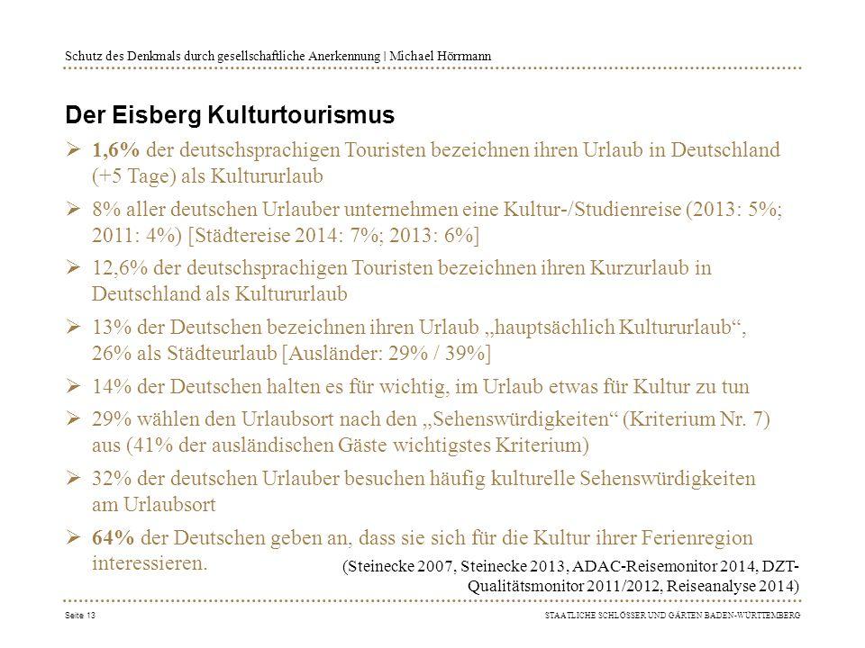 Der Eisberg Kulturtourismus