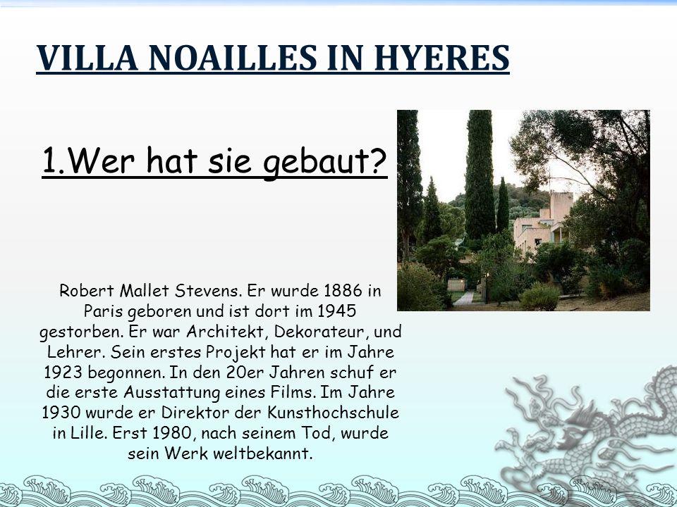 VILLA NOAILLES IN HYERES