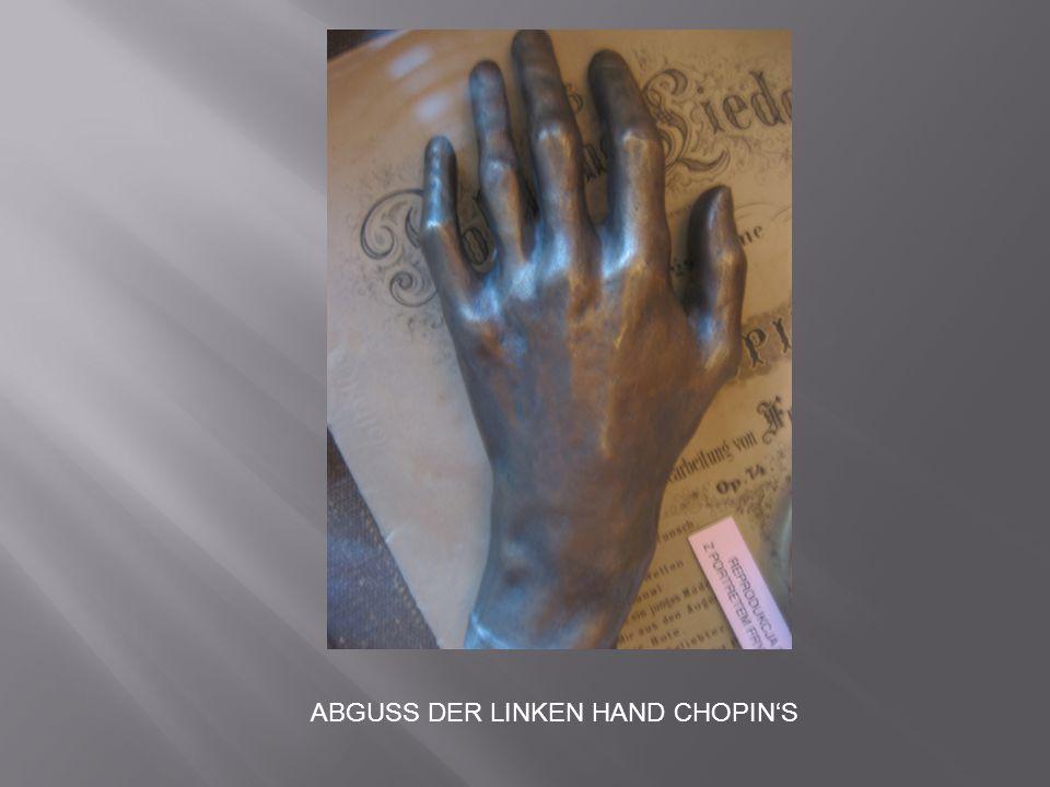 ABGUSS DER LINKEN HAND CHOPIN'S