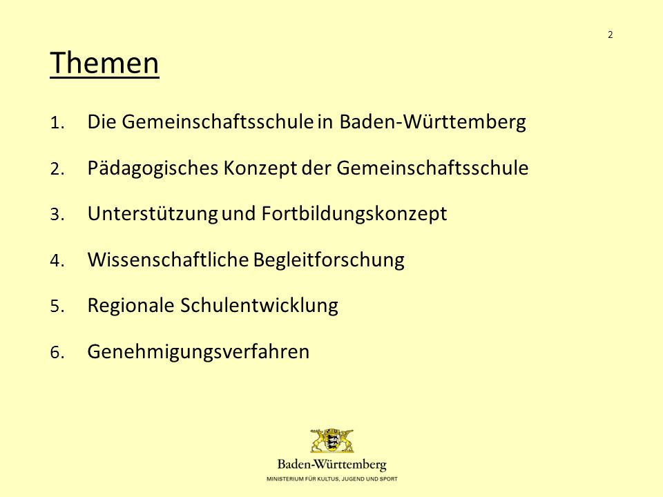 Themen Die Gemeinschaftsschule in Baden-Württemberg