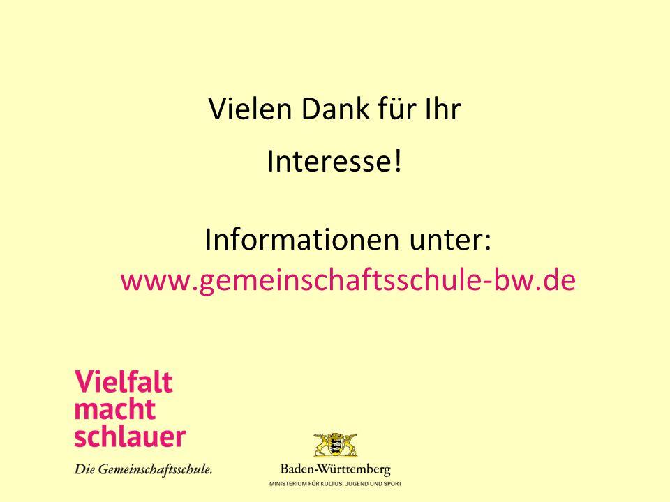 Informationen unter: www.gemeinschaftsschule-bw.de