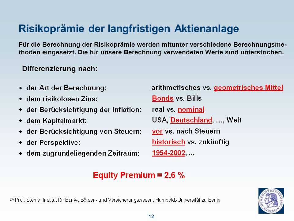 Professor Stehle hält am Center for Financial Studies (Frankfurt/Main)