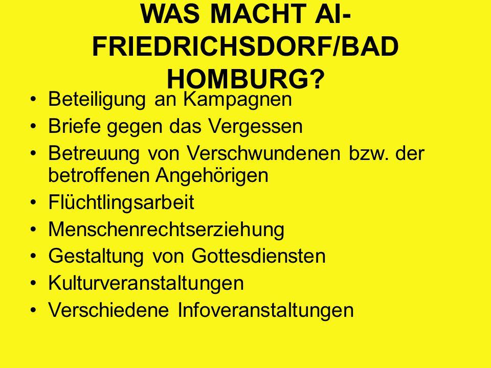 WAS MACHT AI-FRIEDRICHSDORF/BAD HOMBURG
