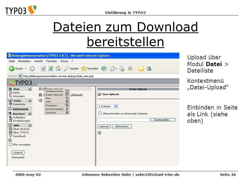 Dateien zum Download bereitstellen