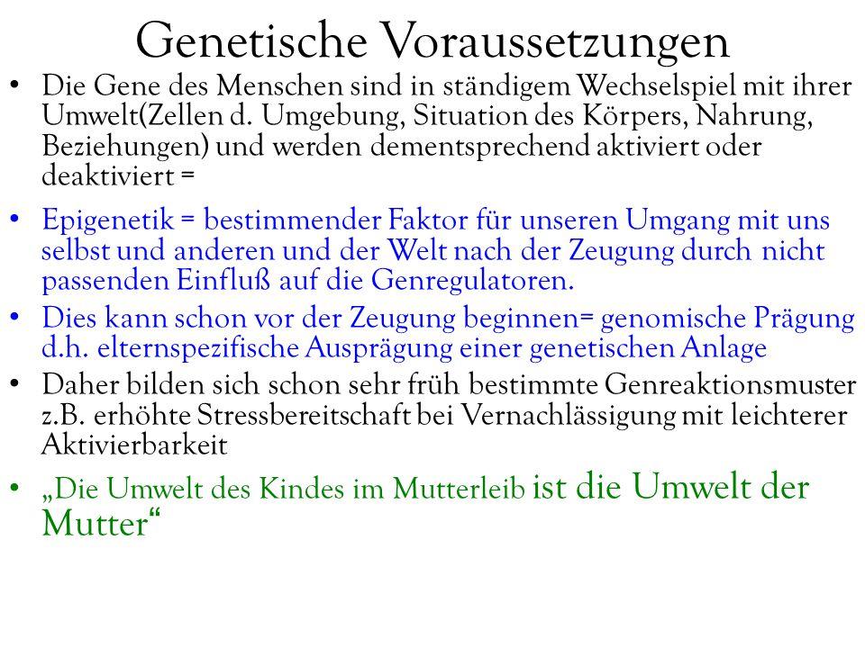 Genetische Voraussetzungen