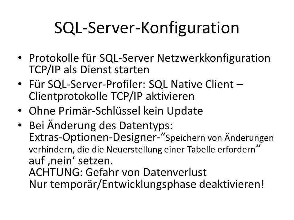 SQL-Server-Konfiguration